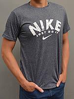Мужская спортивная футболка Nike (Найк) - размеры 44-54, серая