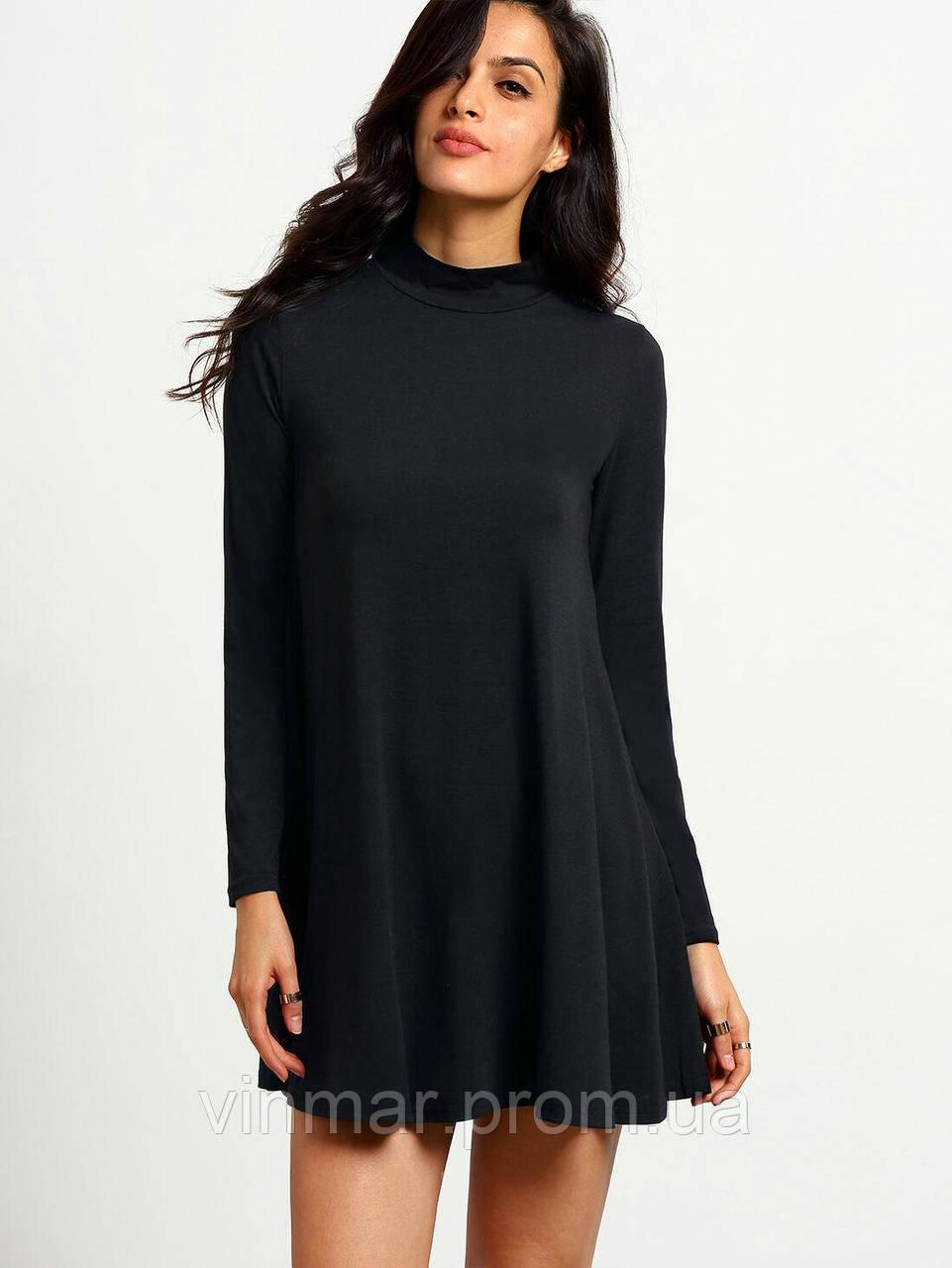 Платье расклешенное с горловиной
