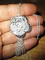 """Серебряный кулончик """"Роза пустыни"""" от студии LadyStyle.Biz, фото 1"""