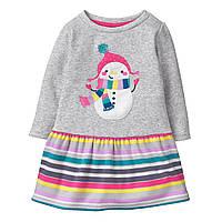 Детское теплое платье для девочки 18-24 месяца, фото 1