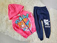 Детский спортивный костюм  Патруль на девочку розовый и мятный на 1,2,3 года