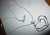 """Серебряный кулончик """"Пара"""" от студии LadyStyle.Biz, фото 1"""