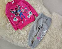 Детский спортивный костюм Фея на девочку розовый и мятный на 1,2,3,4года