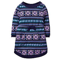 Детское теплое платье для девочки 12-18 месяцев
