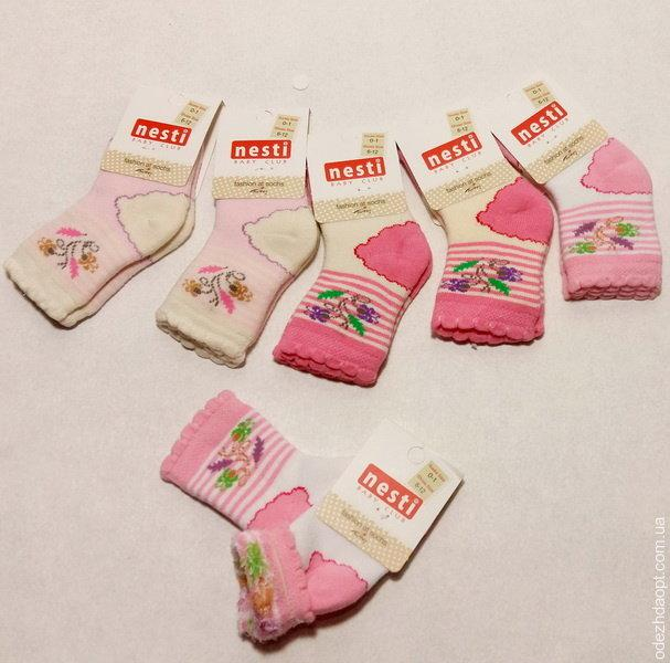 1083 Носки махра nesti Цветочек 0-1