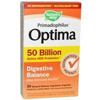 Пробиотики, Natures Way, Примадофилус, Пищеварительный баланс, 50 млрд, 30 капсул