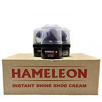 Крем-блеск для обуви HAMELEON (60ml) с воском, черный
