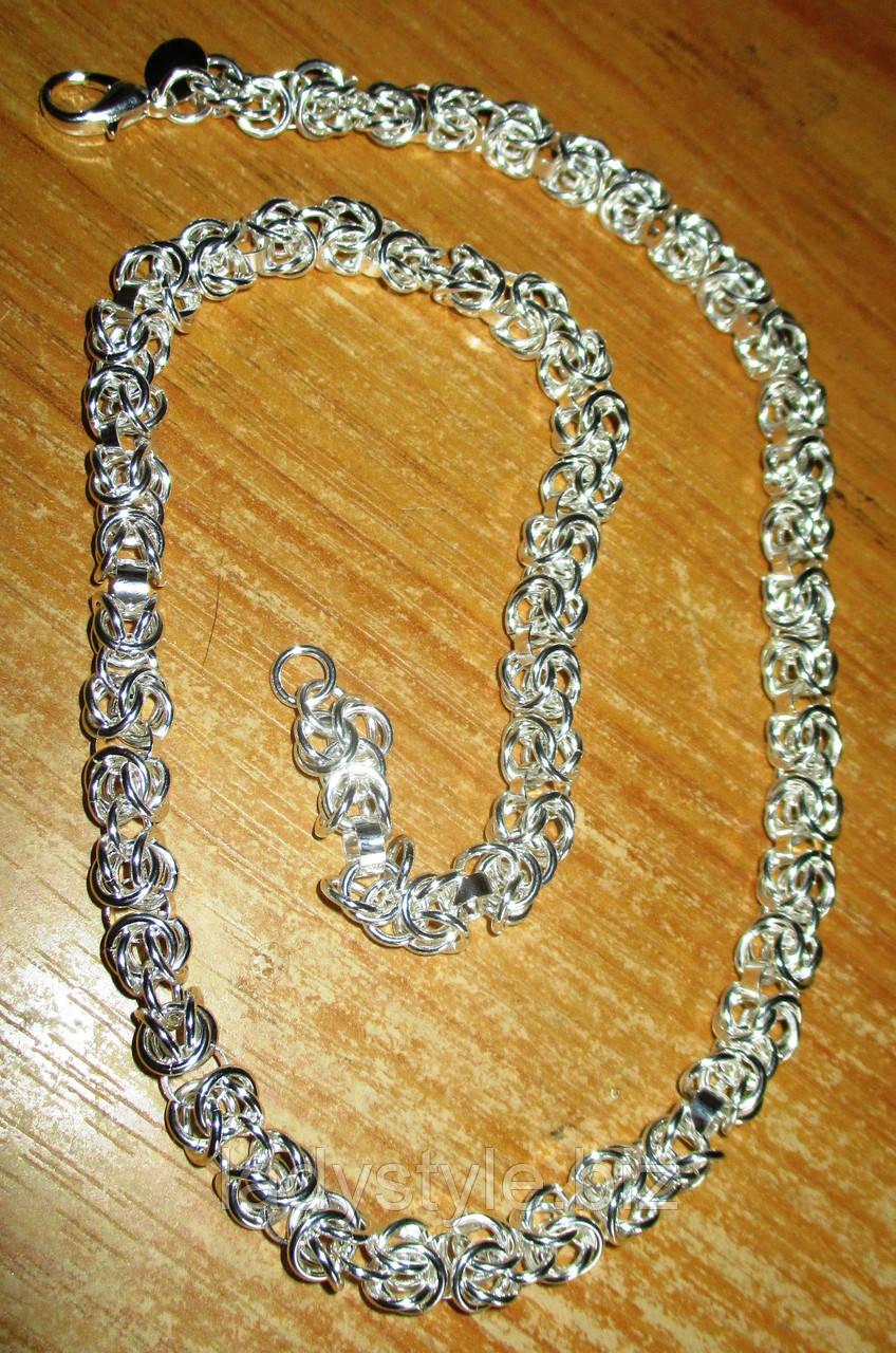 """Серебряное ожерелье  """"Плетеное"""" от студии LadyStyle.Biz"""