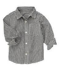 Бавовняна сорочка в клітинку Crazy8 (США) (Розмір 4Т)
