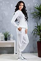 Костюм женский вязанный Сандра (Белый), фото 1