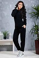 Костюм женский вязанный Сандра (Чёрный), фото 1