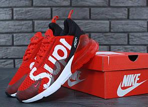 Мужские и женские кроссовки Nike Air Max 270 x Supreme, фото 2