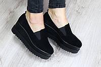 Туфли на платформе замша  37