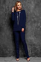 c61900473d44 Офисный темно-синий брючный костюм Дорис Jadone Fashion 42-48 размеры
