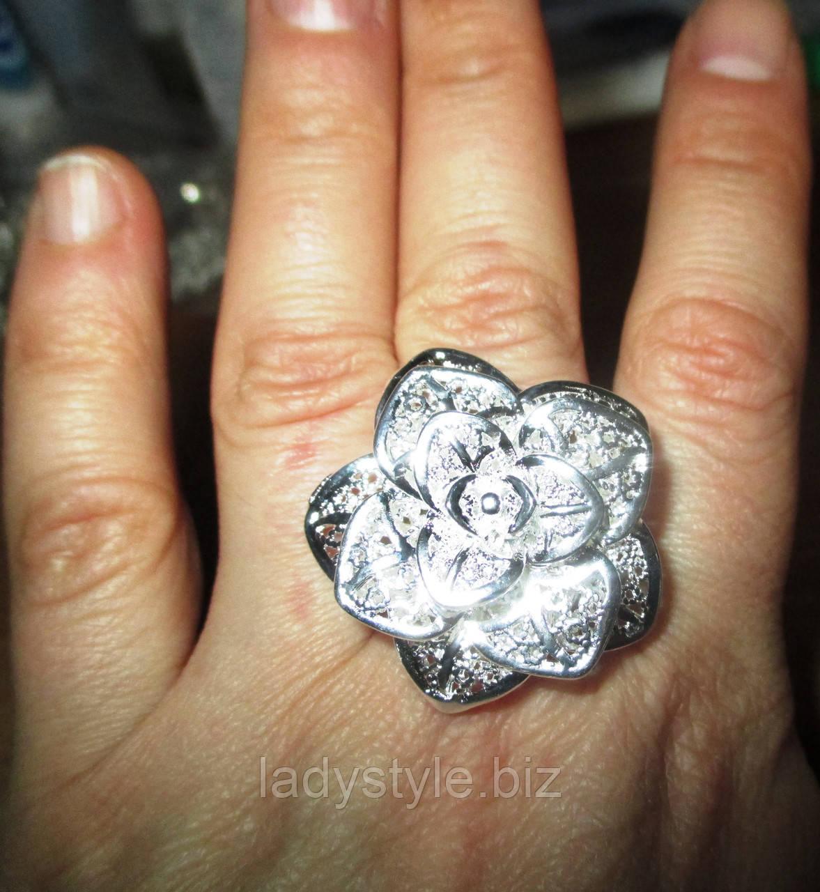 """Серебряное кольцо """"Роза пустыни"""" от студии LadyStyle.Biz"""