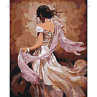 Картина по номерам Танцовщица фламенко, 40х50 (КНО2682)