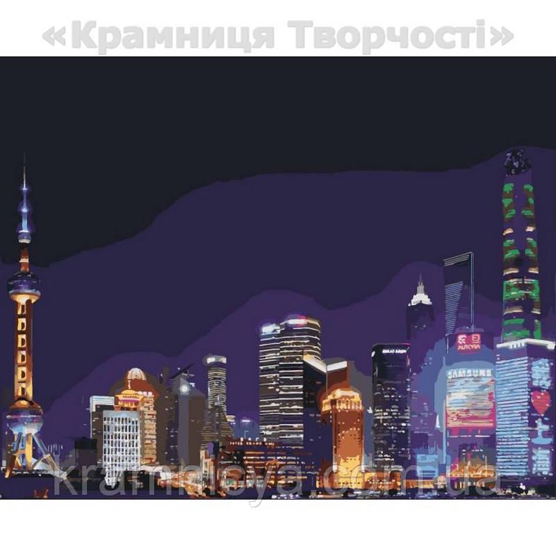 Картина по номерам Ночной Шанхай, 40х50 (КНО3507)