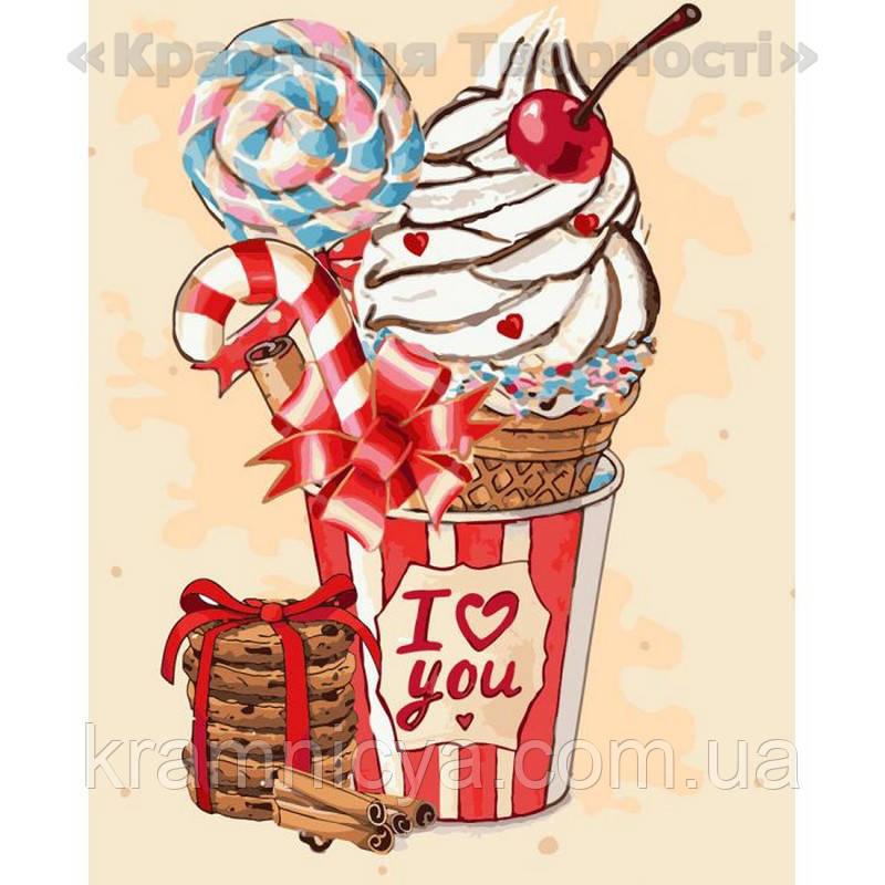 Картина по номерам Вишневое мороженко, 40х50 (КНО5520)