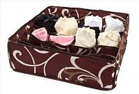 Органайзер для белья на 24 секции Шоколад коричневый, коробочка для белья