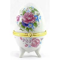 Маленькая шкатулка яйцо Пионы