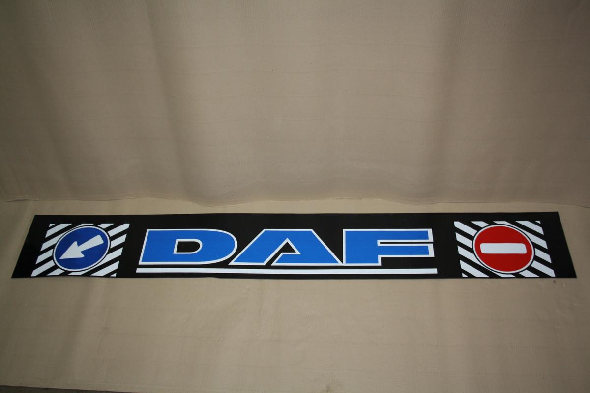 Купить брызговики на длинномер DAF с синей надписью