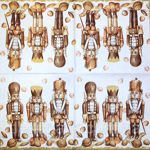 Декупажные салфетки щелкунчики 658