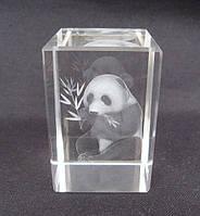 Статуэтка хрустальная голограмма Панда