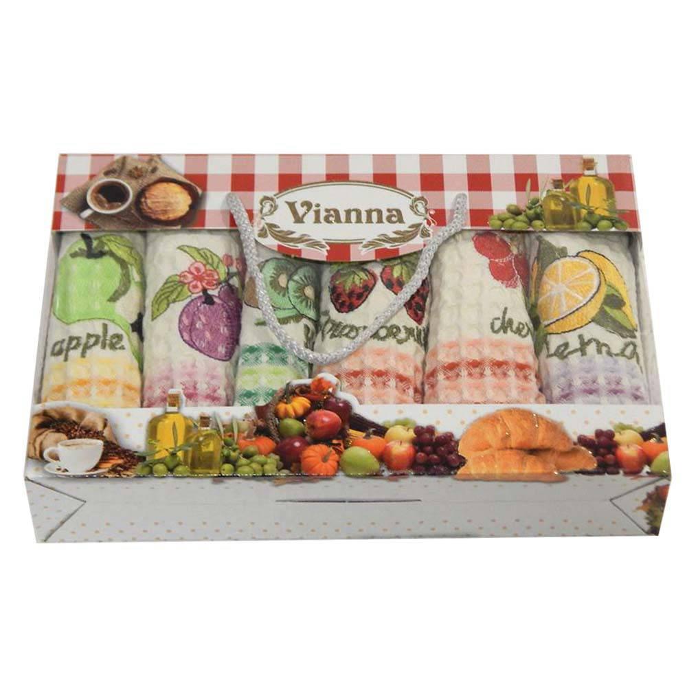 Салфетки Vianna вафельные 35*50 6 штук 35*50