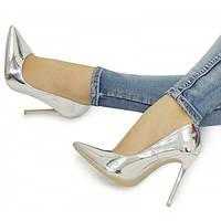 03-12 Серые женские туфли на шпильке NML-154501 38,41,40,37,36,39