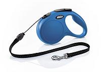 Рулетка Flexi NEW CLASSIC  М  5m/20kg  (трос)  синяя