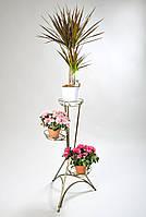Подставка для цветов Башня 3 белая