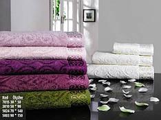 Большое махровое полотенце Pupilla Hanzade 70x140