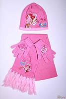 Комплект 3-ка (шапка,шарф,перчатки) для девочки Angels (54 см.)  No name 2000000228495
