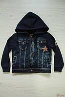 Куртка джинсовая,утепленная для мальчика. (122 см)  No name 2100000280650