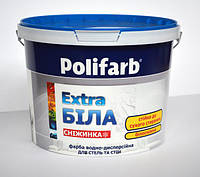 Сніжинка 1,3кг (фарба для стін та стелі) Polifarb