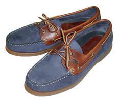 Туфли палубные Deck shoes Skipper , navy / brown with brown sole, No.44