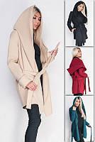 Пальто женское с капюшоном Лагерта