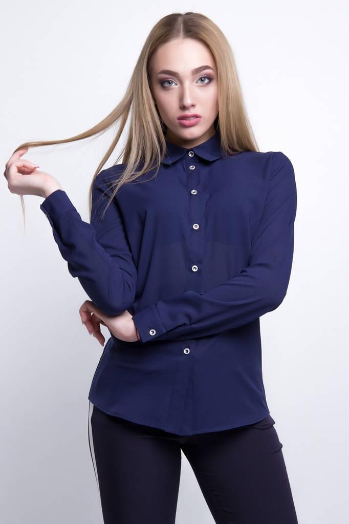 Женская Блузка  цвет: темно-синий