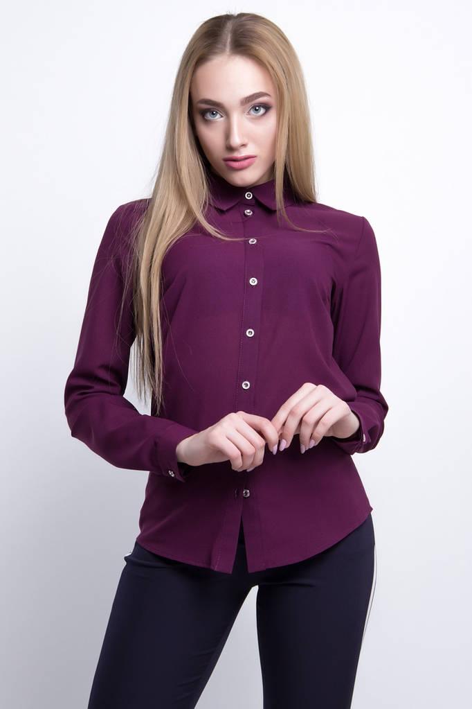 Женская Блузка  цвет: фиолетовый