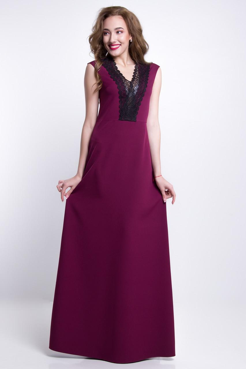 ad623a66430f Длинное платье цвет  бордовый, размер  S, M, L, XL, цена 740 грн ...