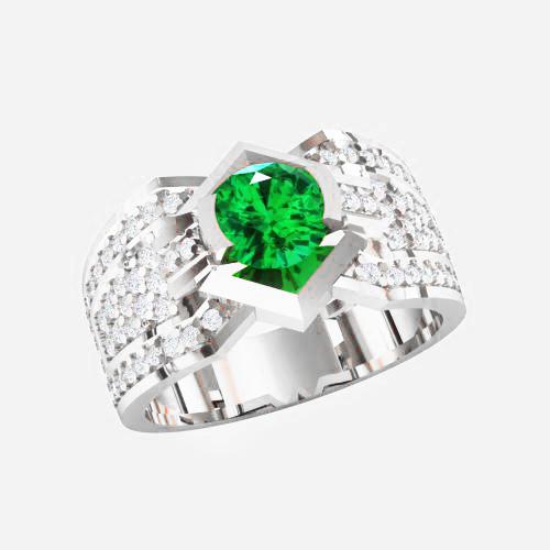 Кольцо  женское серебряное  Марта KE-1476