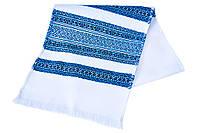 Тканый свадебный рушник «Соборная голубой»