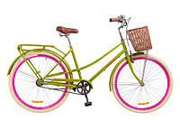 """Велосипед городской женский 28"""" Dorozhnik Comfort Female 14G 2018, с корзиной и багажником, рост 165-185 см"""