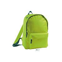 Рюкзак зелений з поліестеру 600d SOL'S RIDER 15 кольорів, Франція під нанесення логотипів