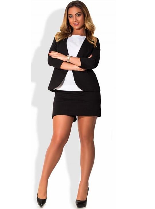 Костюм с мини юбкой-шорты размеры от XL 4034