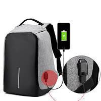 Рюкзак Bobby Gray, Black Протикрадій. з USB портом, Високоякісна репліка, фото 1