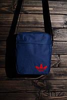 Отличная сумка мессенджер адидас, барсетка синяя Adidas