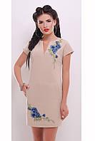 Женское Стильное платье с декоративной вышивкой