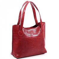Красная кожаная сумка  BagTop арт. BTJS-1-3