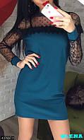 Платье мини рукавчики сетка